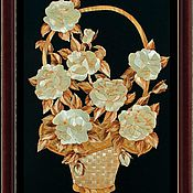 Картины и панно ручной работы. Ярмарка Мастеров - ручная работа Праздничная корзина. Handmade.