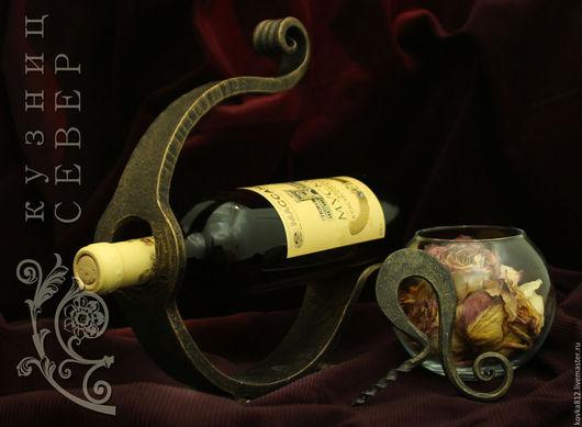 Подарочные наборы ручной работы. Ярмарка Мастеров - ручная работа. Купить Кованый набор для вина На гребне волны. Handmade.