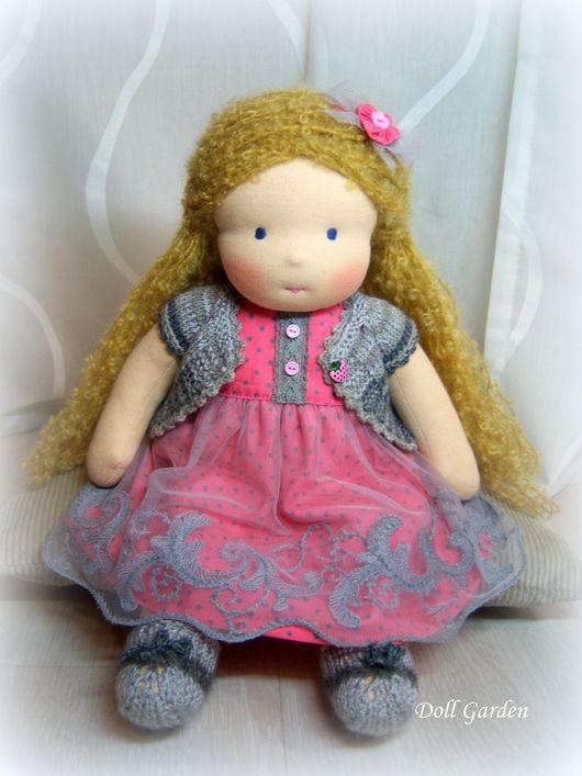 Вальдорфская игрушка ручной работы. Ярмарка Мастеров - ручная работа. Купить Любаша, вальдорфская кукла. Handmade. Вальдорфская кукла, вальдорф