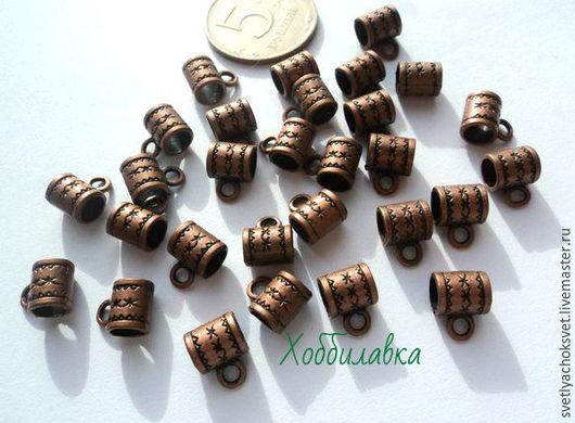 Бейл(держатель) для кулонов(подвесок) материал цинковый сплав  цвет античная медь размер 7*10 мм цена 6 руб.шт. доступно 29 шт.