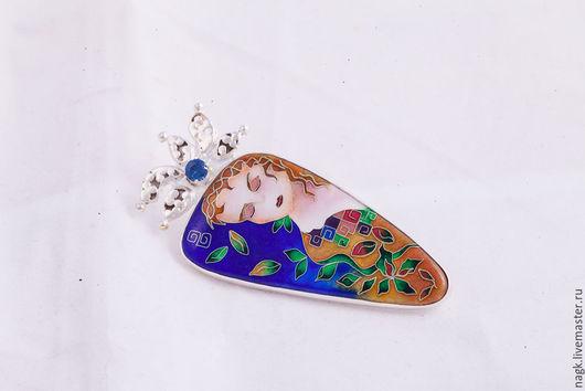 """Кулоны, подвески ручной работы. Ярмарка Мастеров - ручная работа. Купить Подвеска серебряная с эмалью """"Королева"""". Handmade. Синий, королева"""