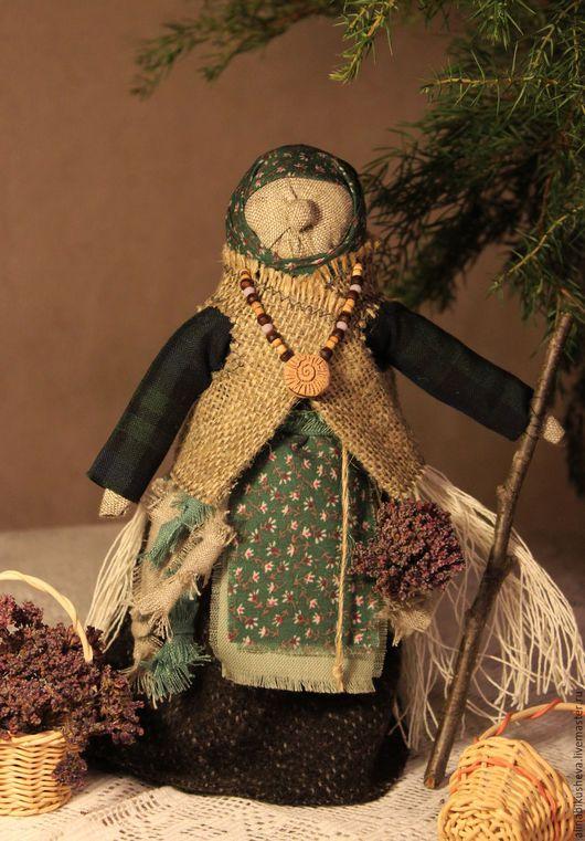 """Народные куклы ручной работы. Ярмарка Мастеров - ручная работа. Купить Кукла-оберег """"Баба Яга"""". Handmade. Тёмно-зелёный"""