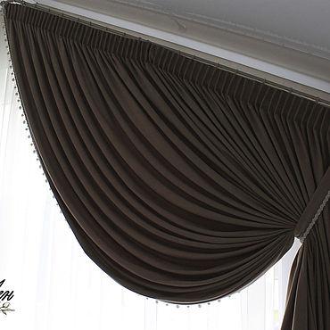 Текстиль ручной работы. Ярмарка Мастеров - ручная работа Шторы для скошенного окна. Handmade.