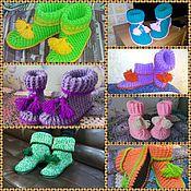 Обувь ручной работы. Ярмарка Мастеров - ручная работа Домашние сапожки на войлочной подошве. Handmade.