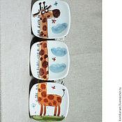 """Картины и панно ручной работы. Ярмарка Мастеров - ручная работа """"Жираф"""", триптих. Handmade."""