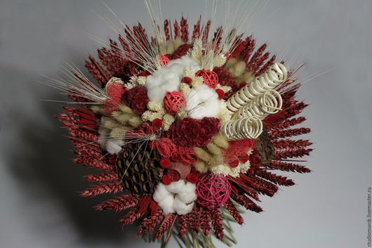 Букеты ручной работы. Ярмарка Мастеров - ручная работа. Купить Букет из сухоцветов. Handmade. Бордовый, букет, букет из сухоцветов