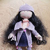 Куклы и игрушки ручной работы. Ярмарка Мастеров - ручная работа Текстильная кукла Снежка. Handmade.