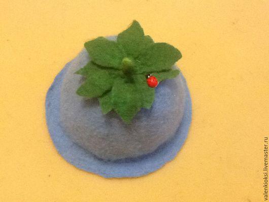 """Банные принадлежности ручной работы. Ярмарка Мастеров - ручная работа. Купить Шапка для бани """" Колокольчик"""". Handmade. Голубой, шапка"""