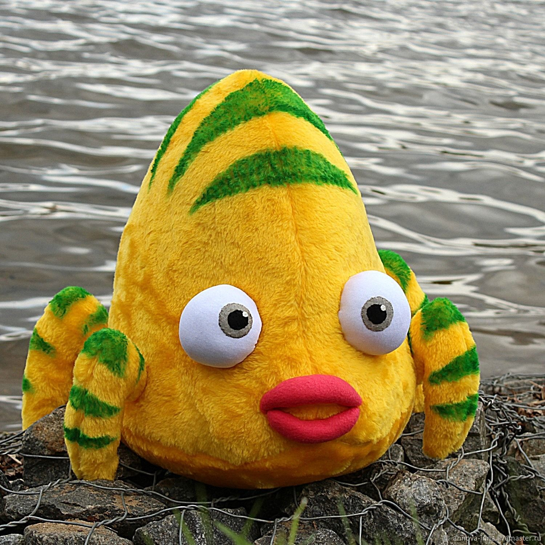 Текстильная игрушка - подушка Рыба-краб для фото . Для интерьера, Фото, Москва,  Фото №1