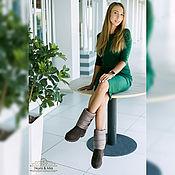 Обувь ручной работы handmade. Livemaster - original item Tiramisu felted boots. Handmade.