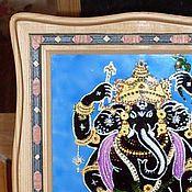 """Картины и панно ручной работы. Ярмарка Мастеров - ручная работа картина на стекле """"Ганеша"""". Handmade."""
