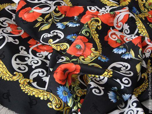 Шитье ручной работы. Ярмарка Мастеров - ручная работа. Купить D&G платок шелковый , Италия. Handmade. Итальянские ткани, жаккард