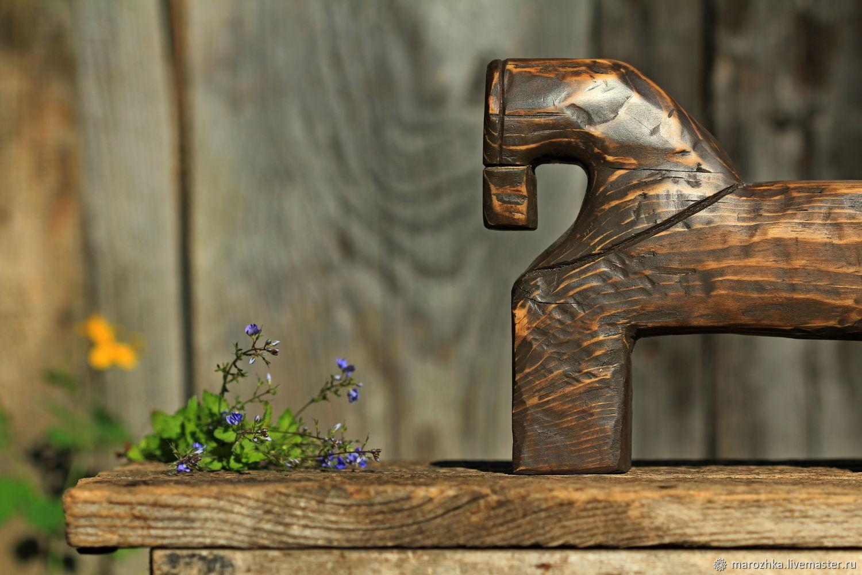 Коник игрушка-сувенир в русском стиле деревянный, Статуэтки, Коломна,  Фото №1