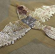 Материалы для творчества handmade. Livemaster - original item Copy of Embroidery gold sequins. Handmade.