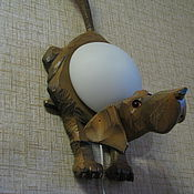 Для дома и интерьера ручной работы. Ярмарка Мастеров - ручная работа Пёс - настенный светильник-бра. Handmade.
