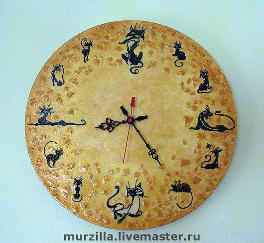 Часы для дома ручной работы. Ярмарка Мастеров - ручная работа. Купить Часы - Кошки. Handmade. Часы необычные, часы декупаж