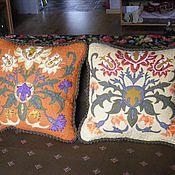 """Подушки ручной работы. Ярмарка Мастеров - ручная работа Лоскутные диванные подушки """"Мой Моррис"""". Handmade."""