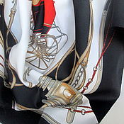 Винтажные аксессуары ручной работы. Ярмарка Мастеров - ручная работа Винтаж.  Шейный платок. Италия. Handmade.