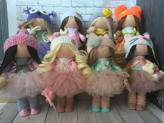 Куклы тыквоголовки ручной работы. Ярмарка Мастеров - ручная работа. Купить Интерьерная кукла-малышка. Handmade. Бледно-розовый, хлопок