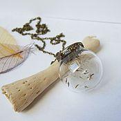 Украшения handmade. Livemaster - original item Transparent Vintage Pendant Sphere with the Seeds of a Dandelion. Handmade.