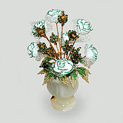 handmade. Livemaster - original item Flowers from tiger`s eye