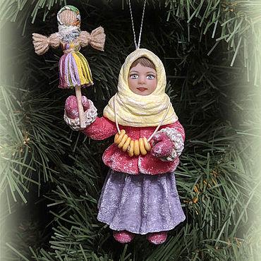 """Куклы и игрушки ручной работы. Ярмарка Мастеров - ручная работа Ватная игрушка """"Встреча масленицы"""". Handmade."""