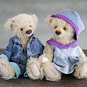 Джинсовая пара мишек тедди