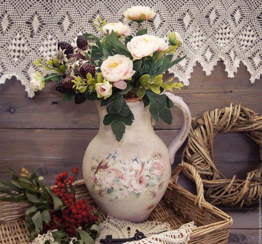 Вазы ручной работы. Ярмарка Мастеров - ручная работа. Купить -10% Кувшин для цветов. Handmade. Комбинированный, кувшины из глины, Марина