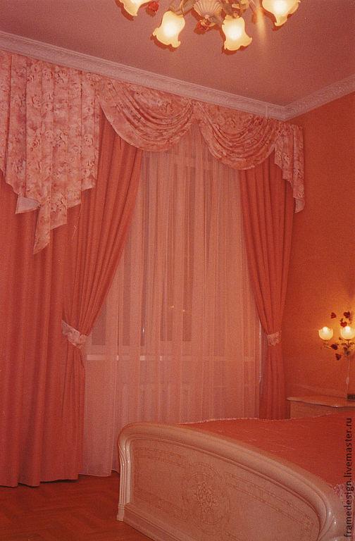 Текстиль, ковры ручной работы. Ярмарка Мастеров - ручная работа. Купить Розово-персиковый комплект для спальни.. Handmade. Коралловый