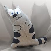 """Куклы и игрушки ручной работы. Ярмарка Мастеров - ручная работа мягкая игрушка-подушка """" Кот Мыслитель"""". Handmade."""