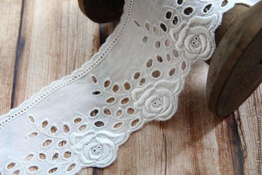 Шитье ручной работы. Ярмарка Мастеров - ручная работа. Купить Шитье 72 мм, белое. Handmade. Кружево, кружево для кукол