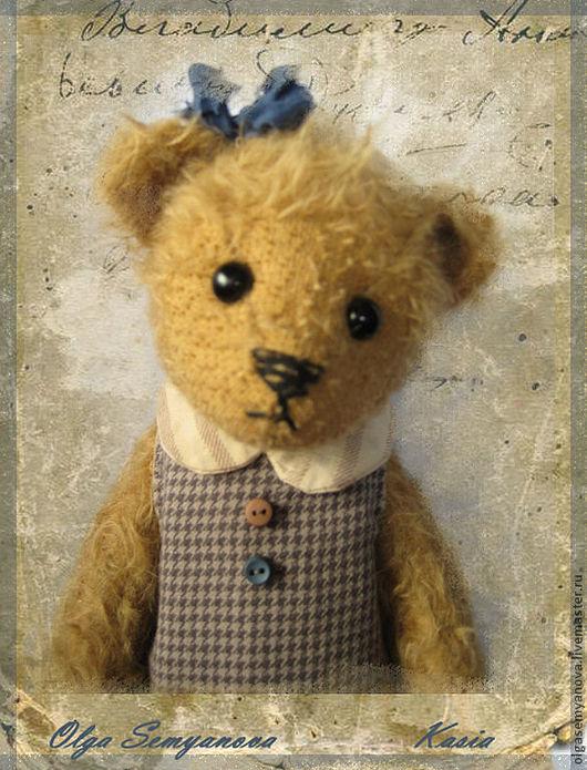Мишки Тедди ручной работы. Ярмарка Мастеров - ручная работа. Купить Кася. Handmade. Бежевый, Плюшевый мишка, шплинтовое соединение