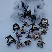 Куклы и игрушки handmade. Livemaster - original item The dog is the symbol of the year knitted handmade. Handmade.