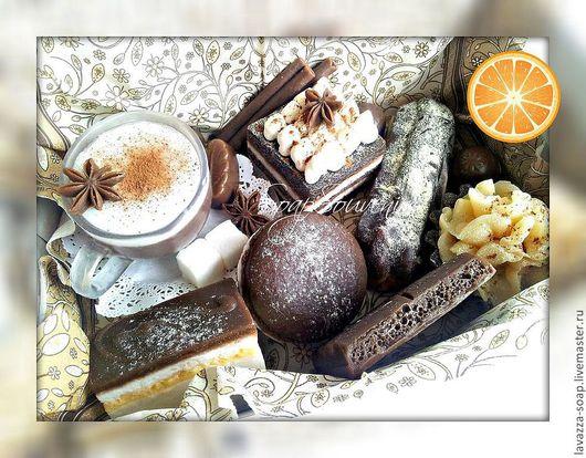 """Мыло ручной работы. Ярмарка Мастеров - ручная работа. Купить Мыло Набор """"Капучино"""". Handmade. Шоколад, шоколадный подарок, макарон"""