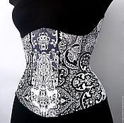 """Одежда ручной работы. Ярмарка Мастеров - ручная работа Корсет """"Oriental black"""". Handmade."""