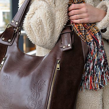 Bags and accessories handmade. Livemaster - original item Bags: Women`s leather bag brown eirin Mod S70-722-2. Handmade.