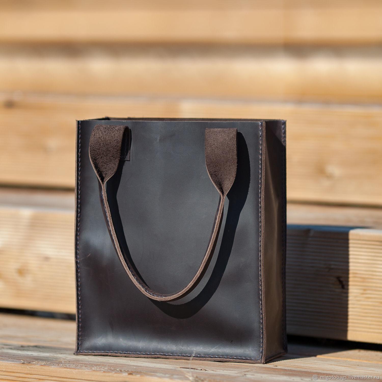 Leather bag dark brown, Classic Bag, St. Petersburg,  Фото №1