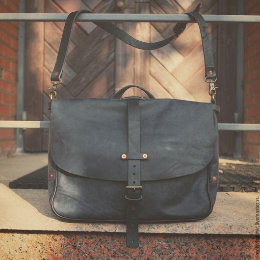 Сумки для ноутбуков ручной работы. Ярмарка Мастеров - ручная работа. Купить Винтажная кожаная сумка почтальона Crazy Horse Leather Mailbag. Handmade.