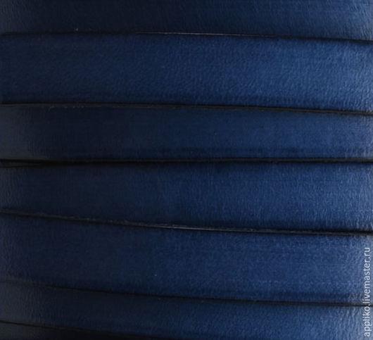 Для украшений ручной работы. Ярмарка Мастеров - ручная работа. Купить КОЖАНЫЙ ШНУР  10х2мм. СИНИЙ. Handmade. Кожаный шнур