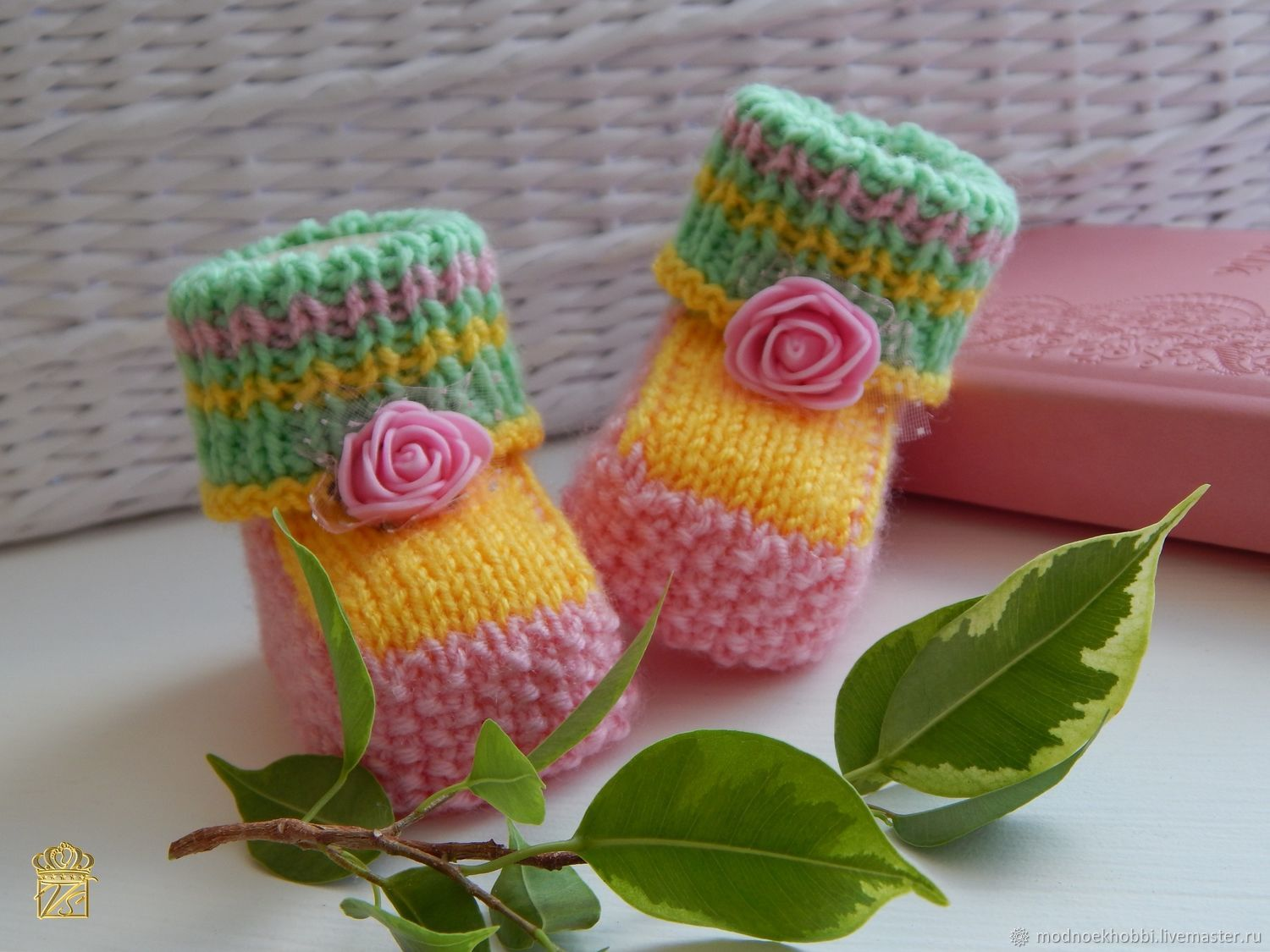 Knitted booties for girls. gift newborn, Booties, Tyumen,  Фото №1