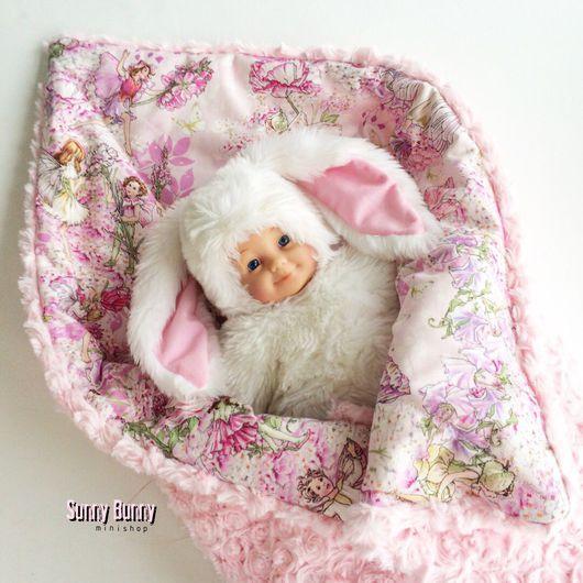 """Пледы и одеяла ручной работы. Ярмарка Мастеров - ручная работа. Купить Пледик """"Волшебные эльфы"""". Handmade. Стеганое одеяло"""