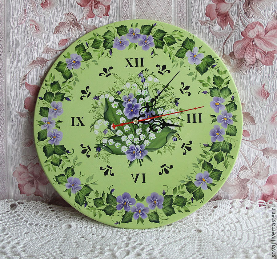 Clock with painting, ' Spring', Watch, ,  Фото №1