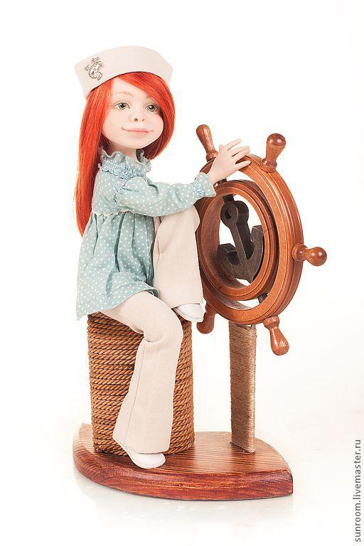 Коллекционные куклы ручной работы. Ярмарка Мастеров - ручная работа. Купить И море отраженное во мне. Handmade. Море