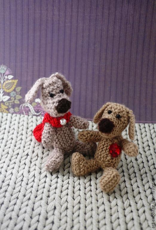 """Игрушки животные, ручной работы. Ярмарка Мастеров - ручная работа. Купить Собаки вязаные  """"Милые друзья"""". Handmade. Собака игрушка"""