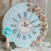 """Часы классические ручной работы. Ярмарка Мастеров - ручная работа часы настенные """"Глория"""". Handmade."""