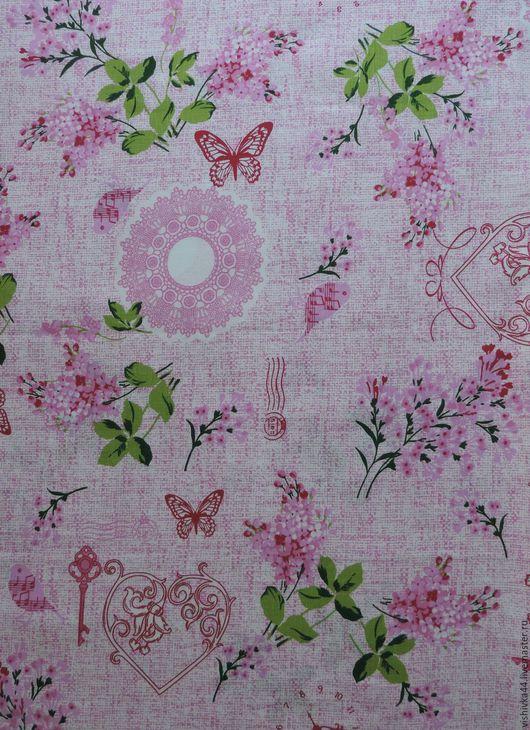 Шитье ручной работы. Ярмарка Мастеров - ручная работа. Купить Лен ткань Розовые Мечты. Handmade. Ткань, ткань лен
