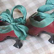 Куклы и игрушки ручной работы. Ярмарка Мастеров - ручная работа Туфельки для  куклы. Handmade.