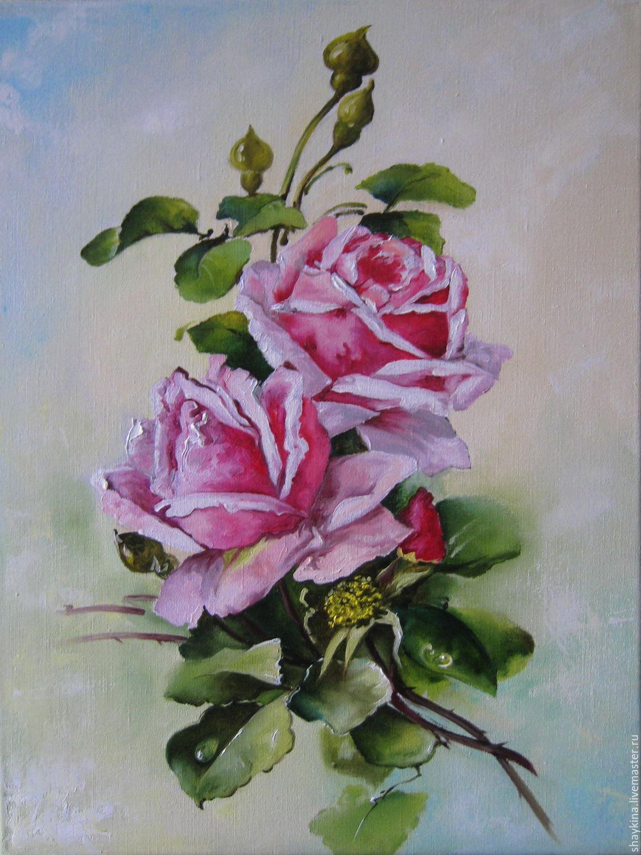 Рисунок маслом цветы
