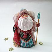 Подарки к праздникам handmade. Livemaster - original item Santa Claus carved and painted with a stick. Handmade.