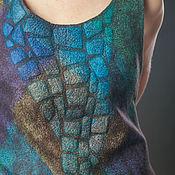 handmade. Livemaster - original item Felted tunic-transformer Gecko. Handmade.